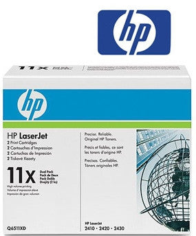 HP Q6511XD (HP 11XD) Genuine H/Yield Black Dual Pack Toner Cartridges