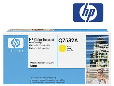HP Q7582A  Genuine Yellow Toner Cartridge