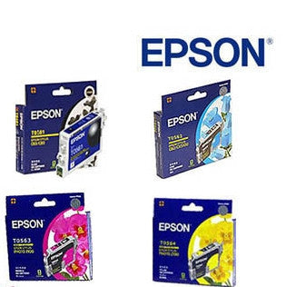 Epson T0561 - 564 Genuine B,C,M,Y Bundle Ink Cartridges