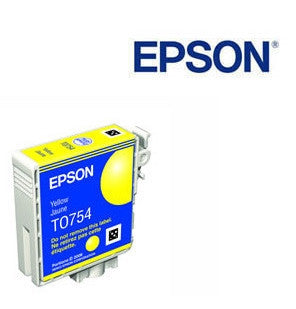 Epson T0754 Yellow Ink Cartridge Genuine