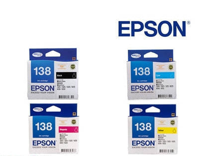 Epson Workforce 840 Genuine  High Capacity BCMY Bundle  Ink Cartridges