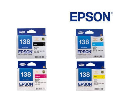Epson Workforce 60 Genuine  High Capacity BCMY Bundle  Ink Cartridges