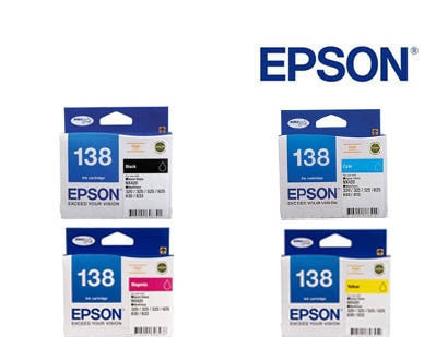 Epson Workforce 633 Genuine  High Capacity BCMY Bundle  Ink Cartridges