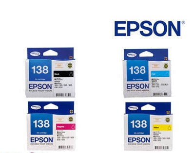 Epson Workforce 625 Genuine  High Capacity BCMY Bundle  Ink Cartridges