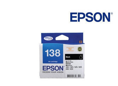 Epson T1381 C13T138192,  genuine black ink cartridge