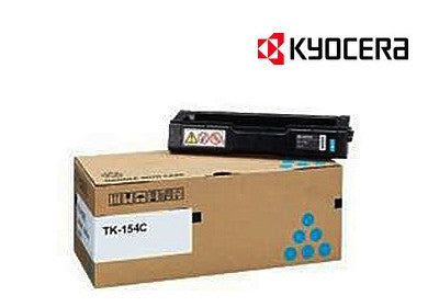 Kyocera TK-154C Genuine Cyan  Laser Cartridge