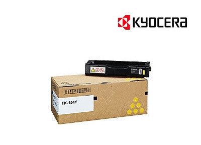 Kyocera TK-154Y  Genuine Yellow Laser Cartridge