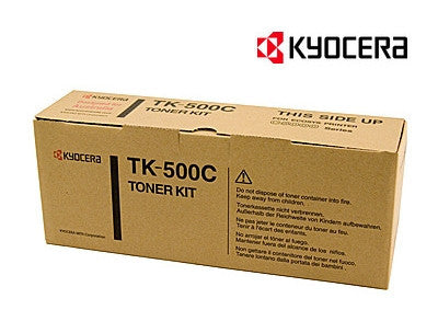 Kyocera TK-500C Genuine Cyan Laser Cartridge