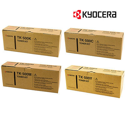Kyocera TK-500 Genuine B,C,M,Y Bundle Laser Cartridges
