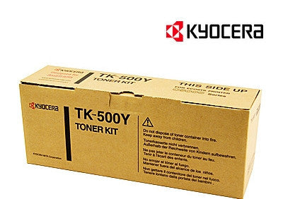 Kyocera TK-500Y Genuine Yellow Laser Cartridge
