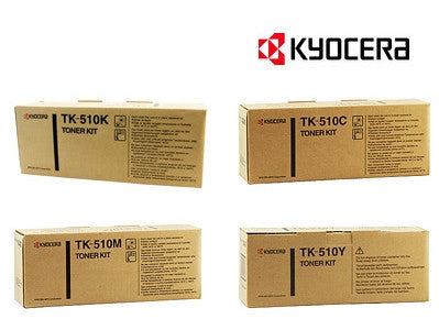 Kyocera TK-510 Genuine B,C,M,Y Bundle Laser Cartridges