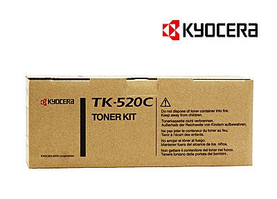 Kyocera TK-520C Genuine Cyan Laser Cartridge