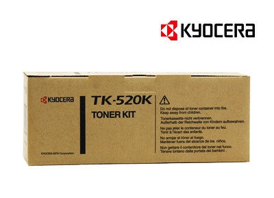 Kyocera TK-520K Genuine Black Laser Cartridge