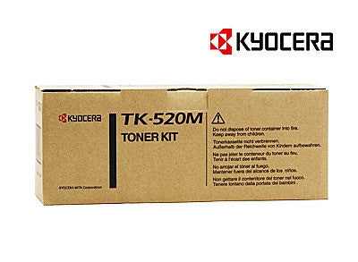 Kyocera TK-520M Genuine Magenta Laser Cartridge