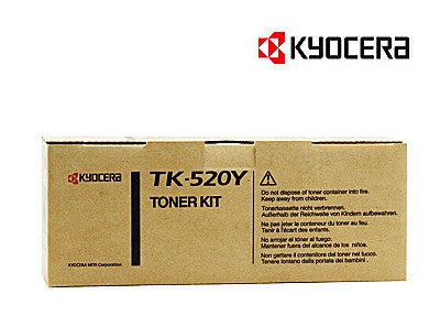 Kyocera TK-520Y Genuine Yellow Laser Cartridge
