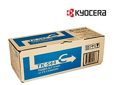 Kyocera TK-544C Genuine Cyan Laser Cartridge