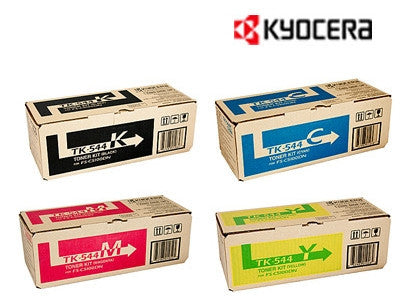 Kyocera TK-544K, TK-544C, TK-544M, TK-544Y pack of toner cartridges from Kyocera