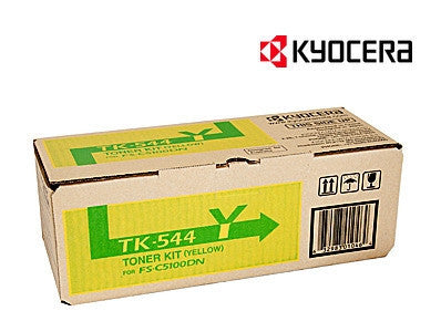 Kyocera TK-544Y Genuine Yellow Laser Cartridge