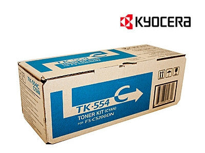 Kyocera TK-554C Genuine Cyan Toner Cartridge
