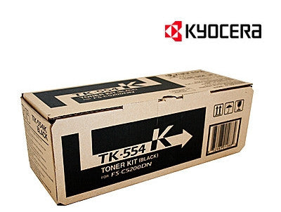 Kyocera TK-554K genuine printer cartridge
