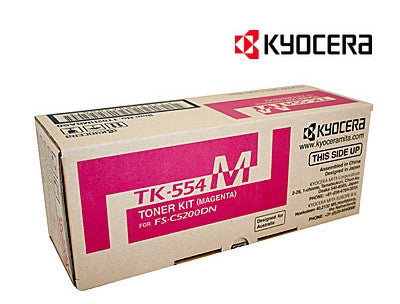 Kyocera TK-554M Genuine Magenta Toner Cartridge