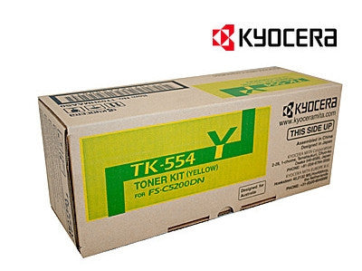 Kyocera TK-554Y genuine printer cartridge