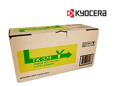 Kyocera TK-574Y Genuine Yellow Toner Cartridge