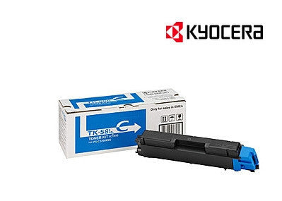 Kyocera TK-584C Genuine Cyan Laser Cartridge