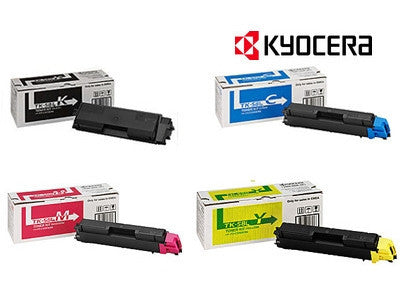 Kyocera TK-584 BCMY Bundle Genuine  Laser Cartridges