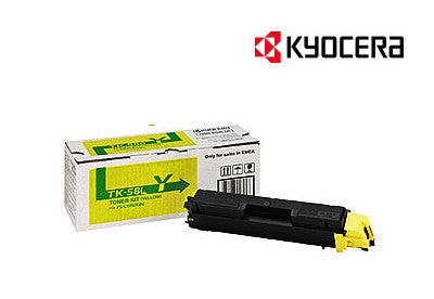 Kyocera TK-584Y Genuine Yellow Laser Cartridge
