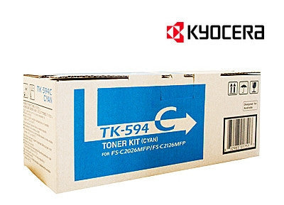 Kyocera TK-594C Genuine Cyan Laser Cartridge