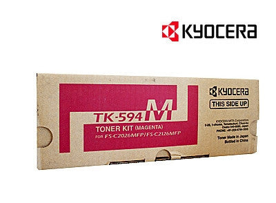 Kyocera TK-594M Genuine Magenta Laser Cartridge