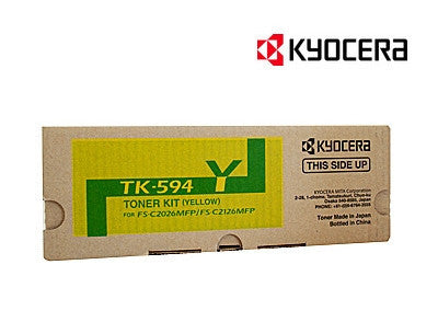 Kyocera TK-594Y Genuine Yellow Laser Cartridge