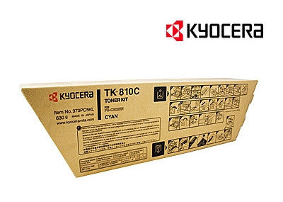 Kyocera TK-810C Genuine Cyan Toner Cartridge