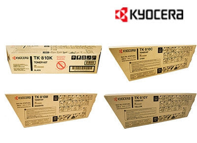 Kyocera TK-810 Genuine B,C,M,Y Bundle Toner Cartridges