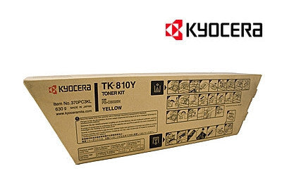 Kyocera TK-810Y Genuine Yellow Toner Cartridge