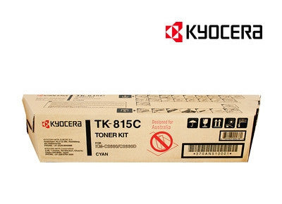 Kyocera TK-815C Genuine Cyan Toner Cartridge