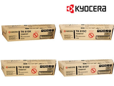 Kyocera TK-815 Genuine B,C,M,Y Bundle Toner Cartridges