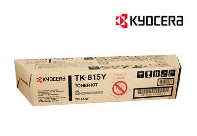 Kyocera TK-815Y Genuine Yellow Toner Cartridge