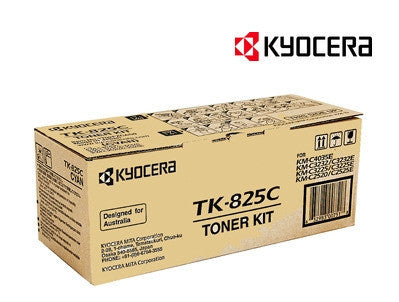Kyocera TK-825C Genuine Cyan Copier Toner Cartridge