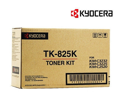 Kyocera TK-825K Genuine Black Copier Toner Cartridge