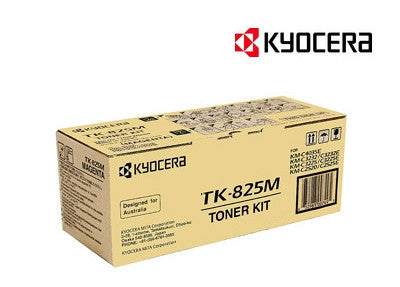 Kyocera TK-825M Genuine Magenta Copier Toner Cartridge