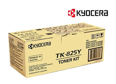 Kyocera TK-825Y Genuine Yellow Copier Toner Cartridge