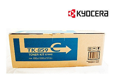 Kyocera TK-859C Genuine Cyan Toner Cartridge
