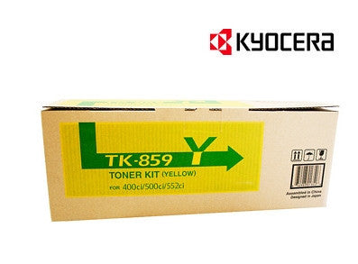 Kyocera TK-859Y Genuine Yellow Toner Cartridge