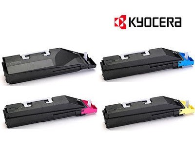 Kyocera TK-859 Genuine B,C,M,Y Bundle Toner Cartridges