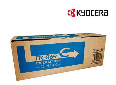 Kyocera TK-869C cyan genuine printer cartridge   for TASKalfa 250ci, TASKalfa 300ci by Kyocera