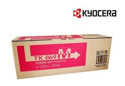 Kyocera TK-869M magenta genuine printer cartridge for TASKalfa 250ci, TASKalfa 300ci printers from Kyocera