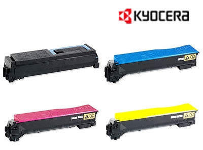 Kyocera TK-899 Genuine B,C,M,Y Bundle Toner Cartridges
