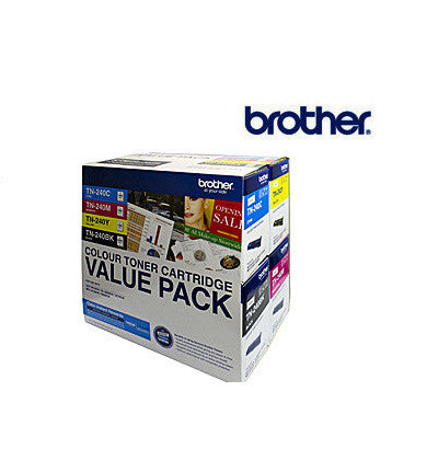 Brother TN-240CL4PK Genuine BCMY (4) colour pack Toner Cartridges